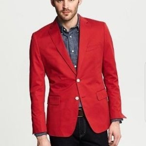 Banana Republic tailored fit red sports coat